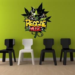 Sticker Reggae Music